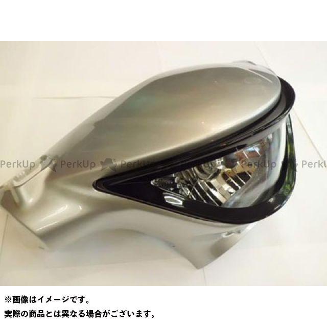 【無料雑誌付き】ユカン アドレスV125S 電装ステー・カバー類 V125S ヘッドライトガーニッシュ(黒ゲル) 油漢