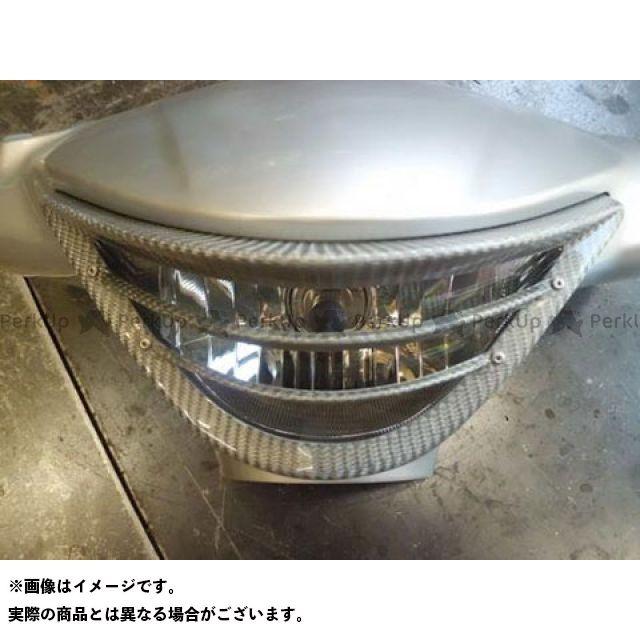 【無料雑誌付き】ユカン アドレスV125S 電装ステー・カバー類 V125S ヘッドライトルーバー(シルバーカーボン) 油漢