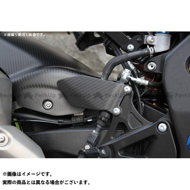 エスエスケー GSX-R1000 その他外装関連パーツ ヒールプレート 穴なしタイプ 左右セットドライカーボン 仕様:平織り艶消し SSK