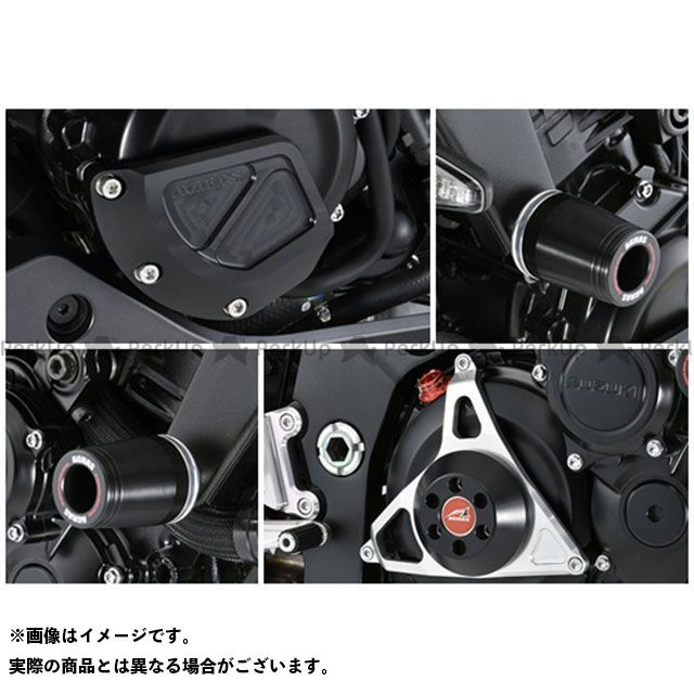 AGRAS カタナ スライダー類 レーシングスライダー 4点セット フレームφ50+ジェネレーターB+クラッチタイプ2 カラー:ジュラコン/ブラック タイプ:ロゴ無 アグラス