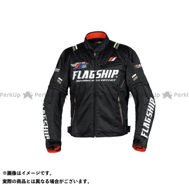 FLAGSHIP ジャケット 2019春夏モデル FJ-S194 アーバンライドメッシュジャケット(ブラック/ホワイト) サイズ:S FLAGSHIP