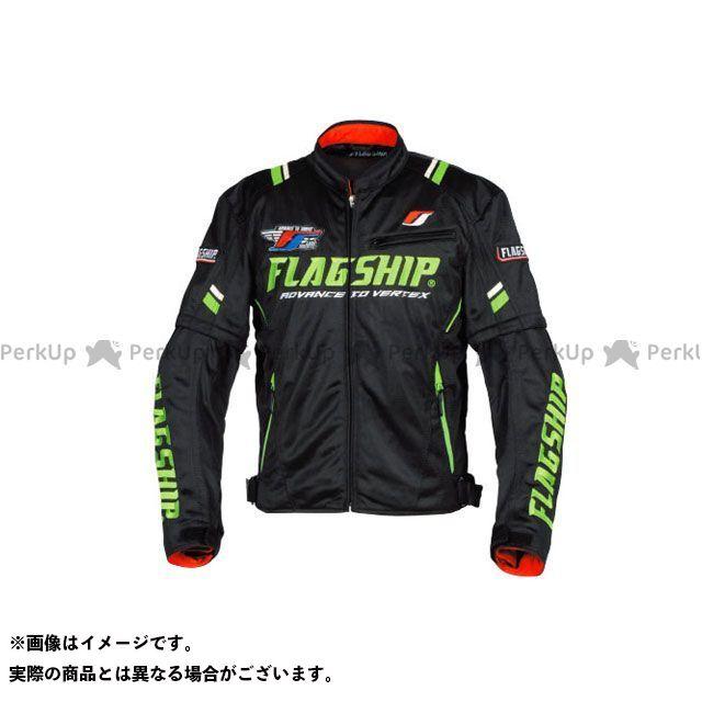 FLAGSHIP ジャケット 2019春夏モデル FJ-S194 アーバンライドメッシュジャケット(ブラック/グリーン) サイズ:S FLAGSHIP