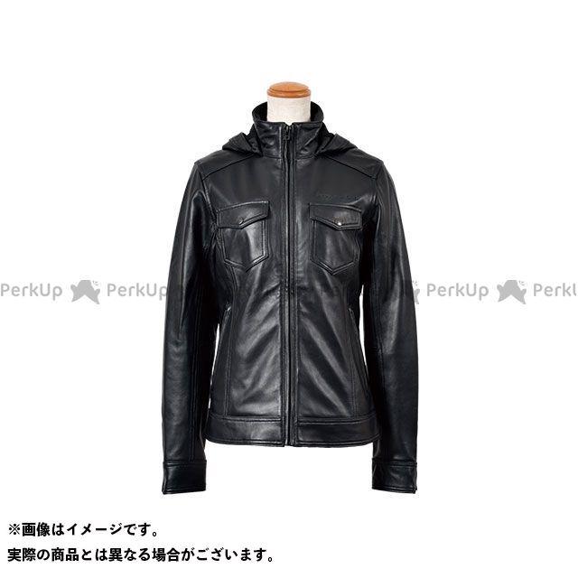 ロッソスタイルラボ ジャケット ROL-14 レディース フーデッド レザージャケット(ブラック) サイズ:レディースLL RossoStyleLab