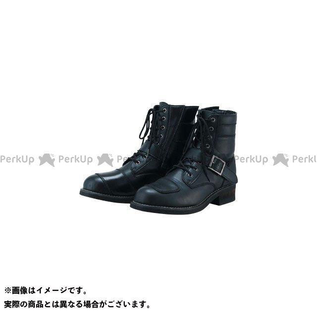 S:GEAR ライディングブーツ SPB-002 PU LACEUP BOOTS(ブラック) サイズ:25.5cm S:GEAR