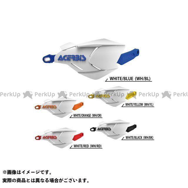 ACERBIS 汎用 ハンドル周辺パーツ AC-22397 X-FACTORYハンドガード(ホワイト×ブルー) アチェルビス