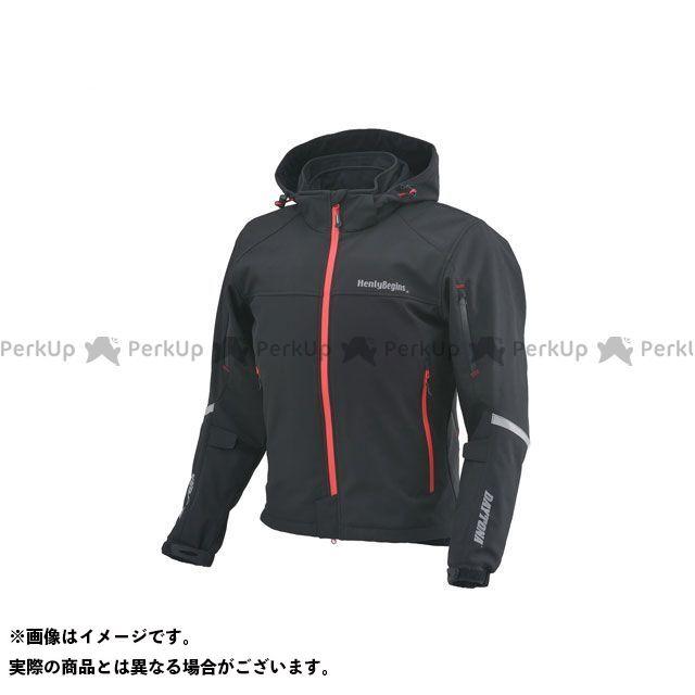 HenlyBegins ジャケット 2019-2020秋冬モデル HBJ-057 ソフトシェルパーカー(ブラック) サイズ:L ヘンリービギンズ