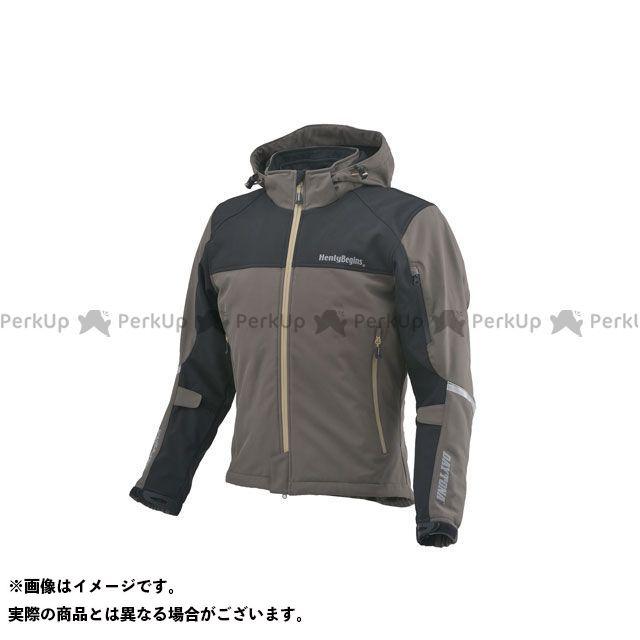 HenlyBegins ジャケット 2019-2020秋冬モデル HBJ-057 ソフトシェルパーカー(オリーブ) サイズ:3XL ヘンリービギンズ