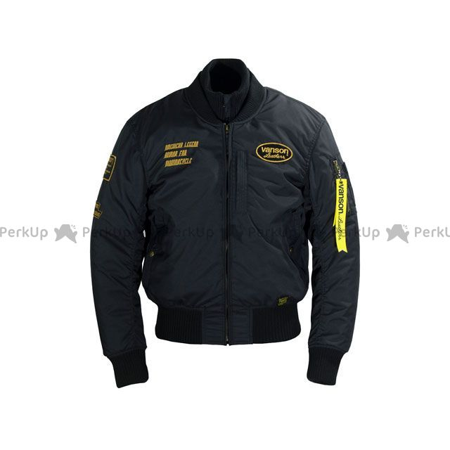 バンソン ジャケット 2019-2020秋冬モデル VS19107W NYLON JACKET(ブラック/イエロー) サイズ:L VANSON