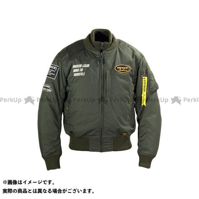 バンソン ジャケット 2019-2020秋冬モデル VS19107W NYLON JACKET(カーキ) サイズ:L VANSON