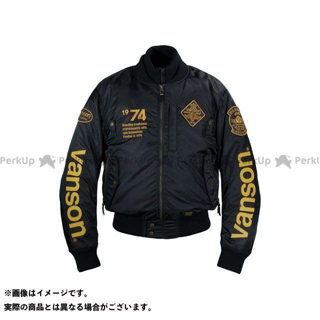バンソン ジャケット 2019-2020秋冬モデル VS19111W NYLON JACKET(ブラック/イエロー) サイズ:2XL VANSON