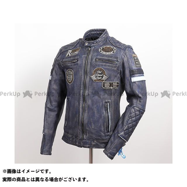 DEGNER ジャケット 2019-2020秋冬モデル 19WJ-13 ワックスシープレザージャケット(ネイビー) サイズ:2XL DEGNER
