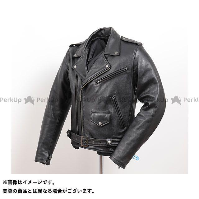 デグナー ジャケット 2019-2020秋冬モデル 19WJ-15 カウレザーダブルジャケット(ブラック) サイズ:XL DEGNER