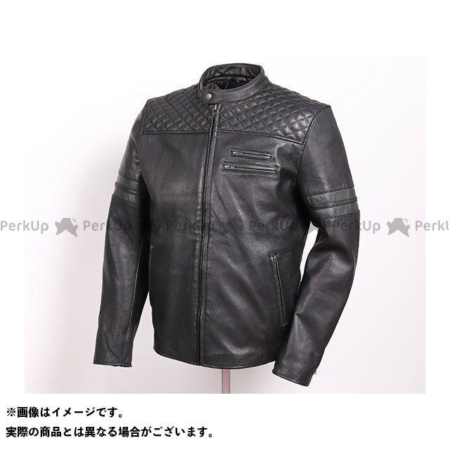 デグナー ジャケット 2019-2020秋冬モデル 19WJ-16 ゴートレザージャケット(ブラック/グリーン) サイズ:S DEGNER