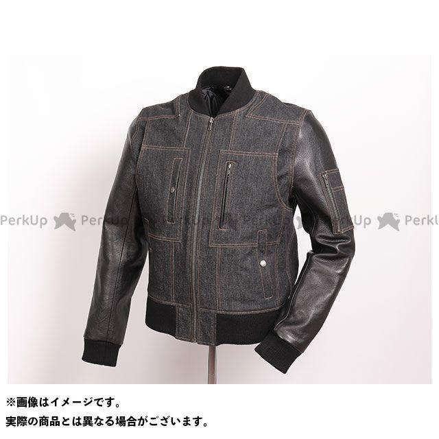 デグナー ジャケット 2019-2020秋冬モデル 19WJ-18 レザーデニムコンビジャケット(ブラック/ブラック) サイズ:L DEGNER