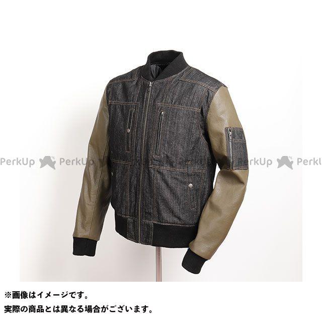 デグナー ジャケット 2019-2020秋冬モデル 19WJ-18 レザーデニムコンビジャケット(ブラック/アーミーグリーン) サイズ:M DEGNER