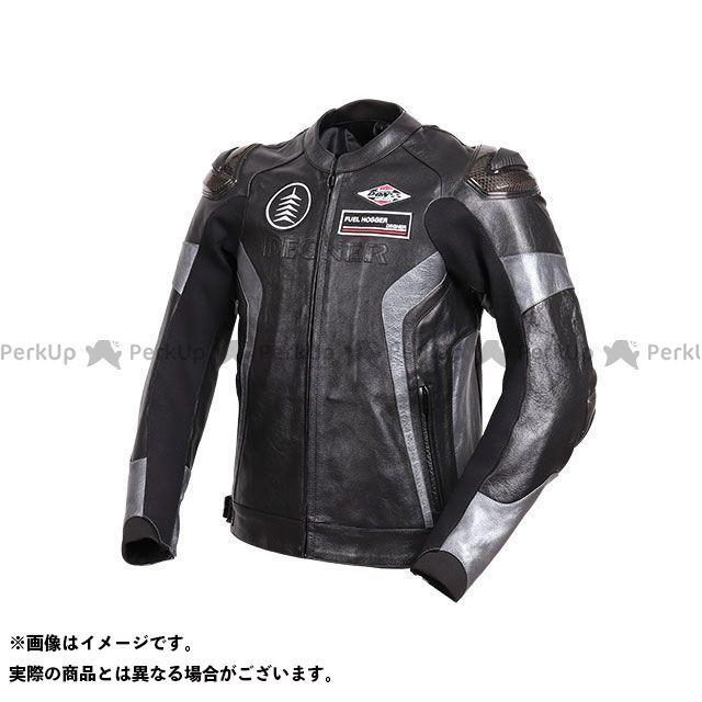 デグナー ジャケット 2019-2020秋冬モデル 19WJ-19 レザーレーシングジャケット(ブラック/ガンメタ) サイズ:L DEGNER
