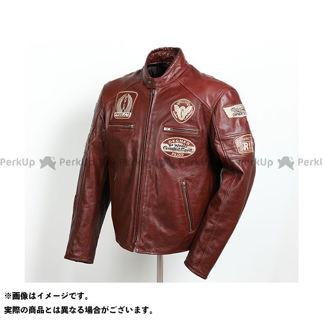 DEGNER ジャケット 2019-2020秋冬モデル 19WJ-24 レザージャケット(ブラウン) サイズ:M DEGNER