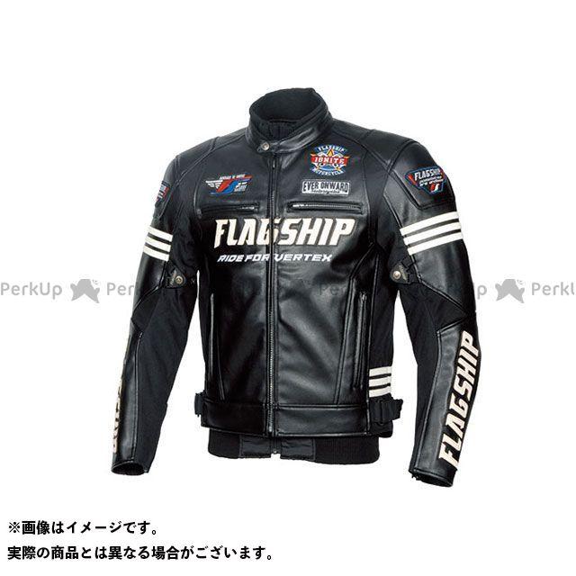 FLAGSHIP ジャケット 2019-2020秋冬モデル FJ-W193 イグナイトPUレザージャケット(ブラック&ホワイト) サイズ:LL FLAGSHIP