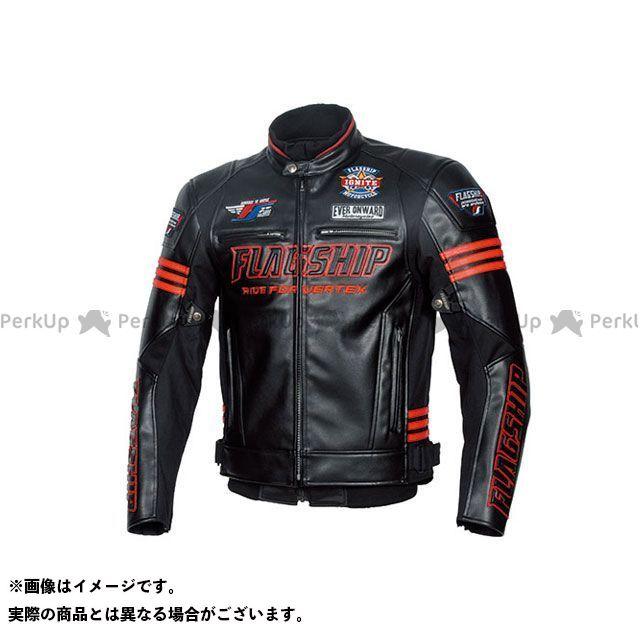 FLAGSHIP ジャケット 2019-2020秋冬モデル FJ-W193 イグナイトPUレザージャケット(ブラック&レッド) 4L FLAGSHIP