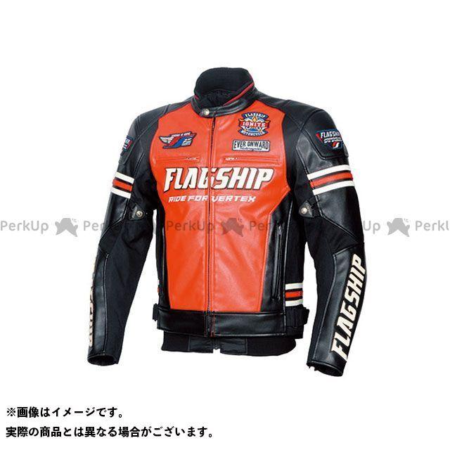 FLAGSHIP FLAGSHIP ジャケット バイクウェア FLAGSHIP ジャケット 2019-2020秋冬モデル FJ-W193 イグナイトPUレザージャケット(レッド) LW FLAGSHIP