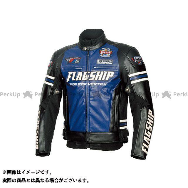 FLAGSHIP ジャケット 2019-2020秋冬モデル FJ-W193 イグナイトPUレザージャケット(ブルー) サイズ:M FLAGSHIP