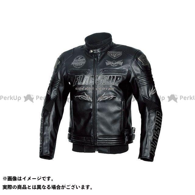 FLAGSHIP ジャケット 2019-2020秋冬モデル FJ-W193G バーテックスPUレザージャケット(ブラック&ブラック) サイズ:L FLAGSHIP