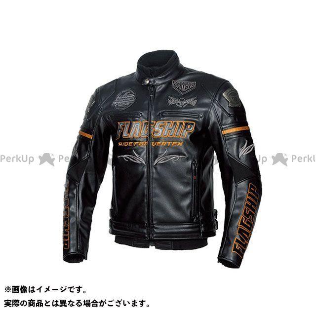 FLAGSHIP ジャケット 2019-2020秋冬モデル FJ-W193G バーテックスPUレザージャケット(ブラック&ゴールド) サイズ:M FLAGSHIP