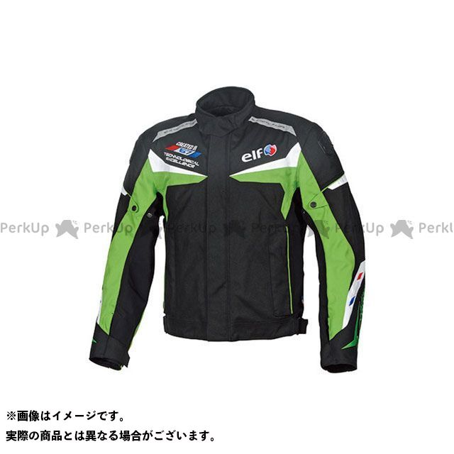 エルフ ライディングウェア ジャケット 2019-2020秋冬モデル EL-9242 WPツーリスモジャケット(グリーン) サイズ:L elf riding wear