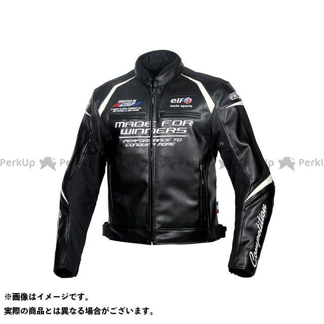 エルフ ライディングウェア ジャケット 2019-2020秋冬モデル EL-9243 エヴォルツィオーネPUレザージャケット(ブラック) サイズ:LL elf riding wear