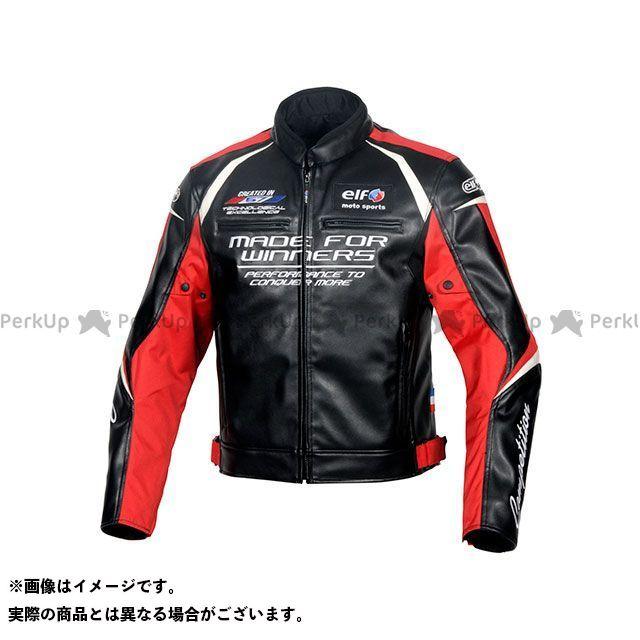 エルフ ライディングウェア ジャケット 2019-2020秋冬モデル EL-9243 エヴォルツィオーネPUレザージャケット(レッド) サイズ:M elf riding wear
