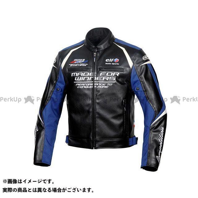 エルフ ライディングウェア ジャケット 2019-2020秋冬モデル EL-9243 エヴォルツィオーネPUレザージャケット(ブルー) サイズ:M elf riding wear