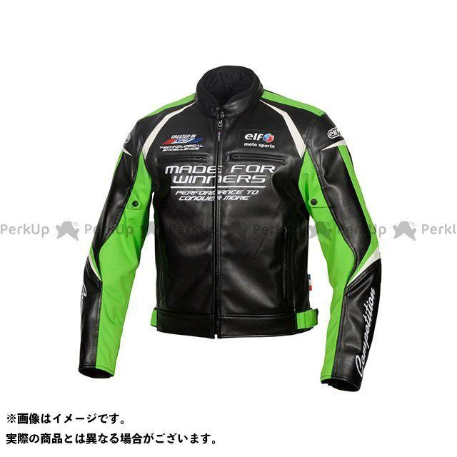 エルフ ライディングウェア ジャケット 2019-2020秋冬モデル EL-9243 エヴォルツィオーネPUレザージャケット(グリーン) サイズ:M elf riding wear
