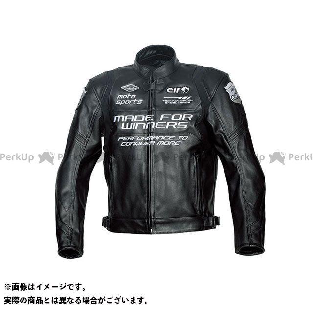 エルフ ライディングウェア ジャケット 2019-2020秋冬モデル ELJ-A01 スポルトレザージャケット(ブラック) サイズ:L elf riding wear