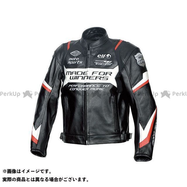 エルフ ライディングウェア ジャケット 2019-2020秋冬モデル ELJ-A01 スポルトレザージャケット(レッド) サイズ:3L elf riding wear