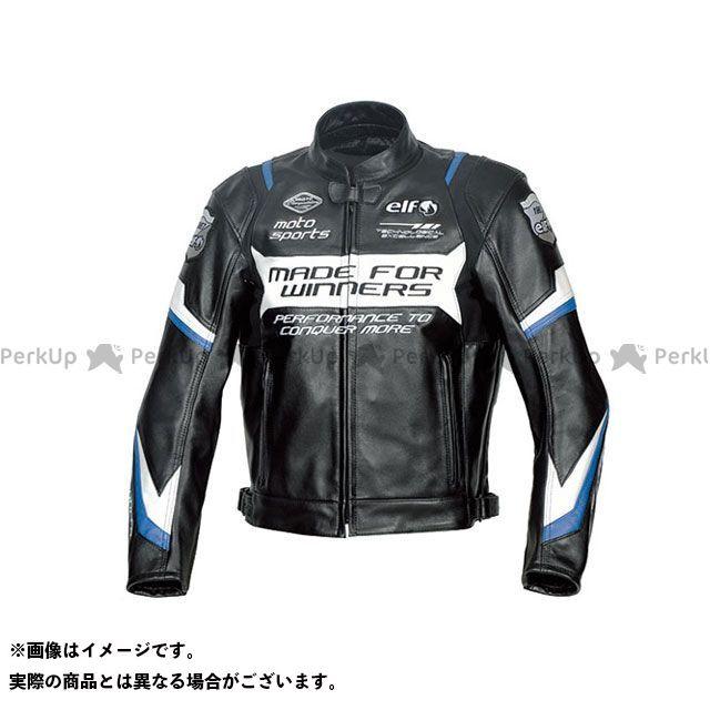 エルフ ライディングウェア ジャケット 2019-2020秋冬モデル ELJ-A01 スポルトレザージャケット(ブルー) サイズ:L elf riding wear