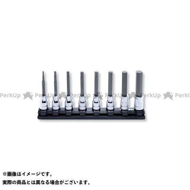 Ko-ken ハンドツール 3/8(9.5mm)SQ. Z-EAL ロングヘックスビットソケット レールセット 8ヶ組  Ko-ken