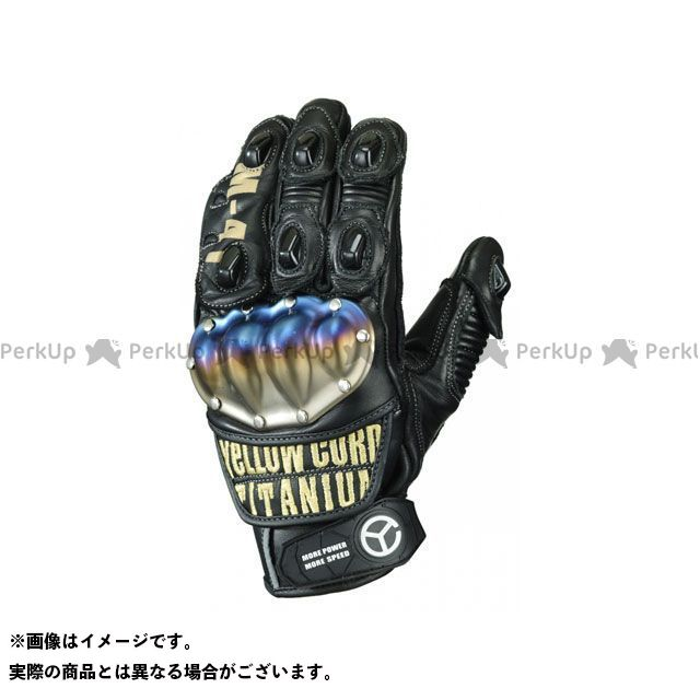 YeLLOW CORN レザーグローブ YG-191 レザーグローブ(ブラック/ゴールド) サイズ:L イエローコーン