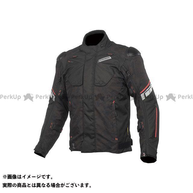 KOMINE ジャケット 2019-2020秋冬モデル JK-598 プロテクトフルイヤージャケット(ブラックカモ/レッド) サイズ:3XL コミネ