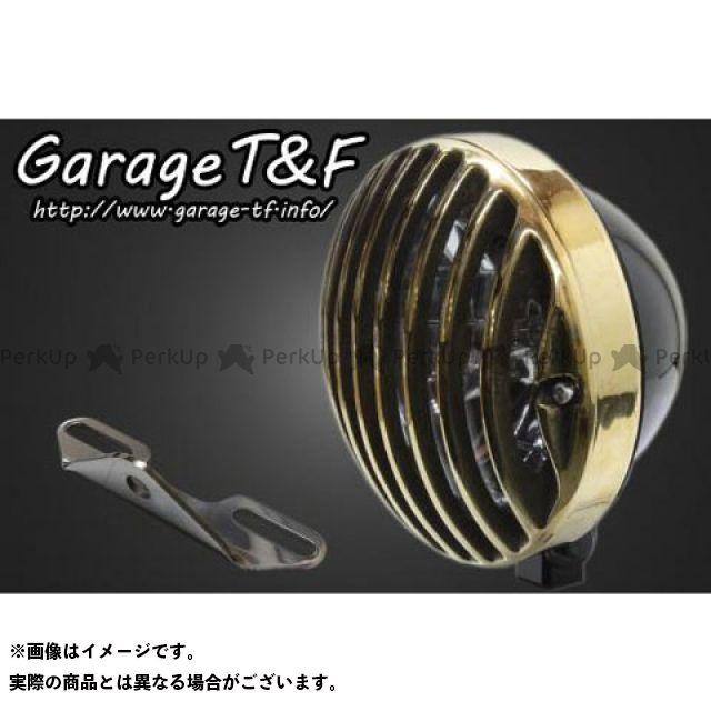 ガレージティーアンドエフ ドラッグスタークラシック400(DSC4) ヘッドライト・バルブ 5.75インチバードゲージヘッドライト&ライトステー(タイプB)キット ブラック 真鍮