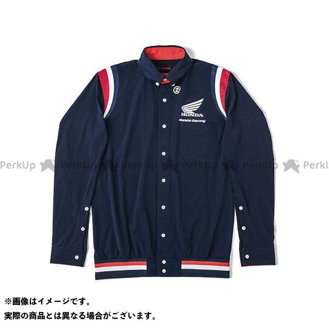 LS(ネイビー) ARAKAWA ホンダ 裾リブピットシャツ 2019-2020秋冬モデル Honda×SHINICHIRO サイズ:S Honda その他アパレル
