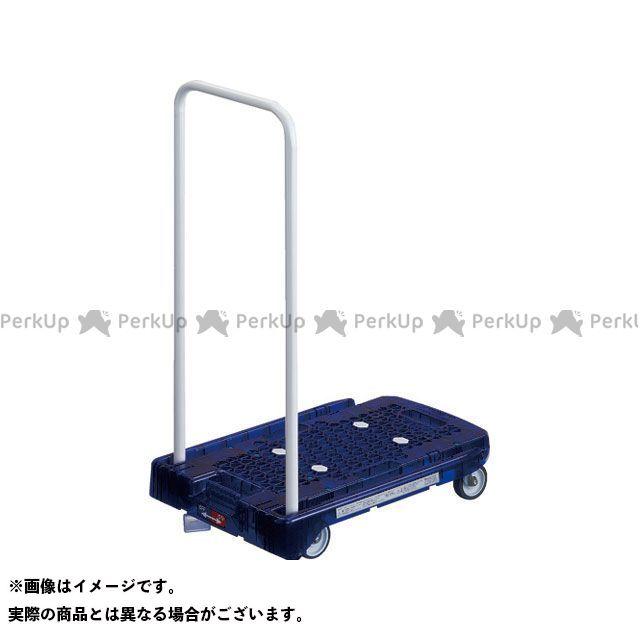 TRUSCO 作業場工具 樹脂台車 アクロキャリー PC製 省音車輪 600×390 ブルー透明 S付  TRUSCO