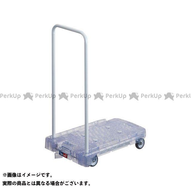 TRUSCO 作業場工具 樹脂台車 アクロキャリー PC製 省音車輪 600×390 透明 S付  TRUSCO