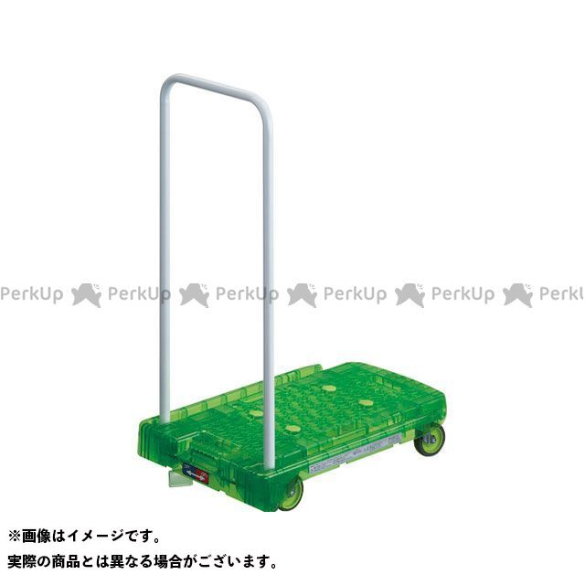 TRUSCO 作業場工具 樹脂台車 アクロキャリー PC製 省音車輪 600×390 グリーン透明 S付  TRUSCO