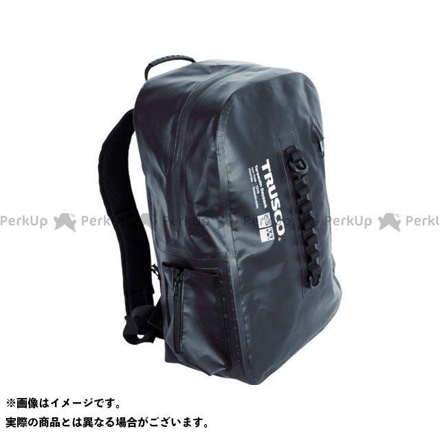 TRUSCO ツーリング用バッグ 防水ターポリンデイパック ブラック TRUSCO