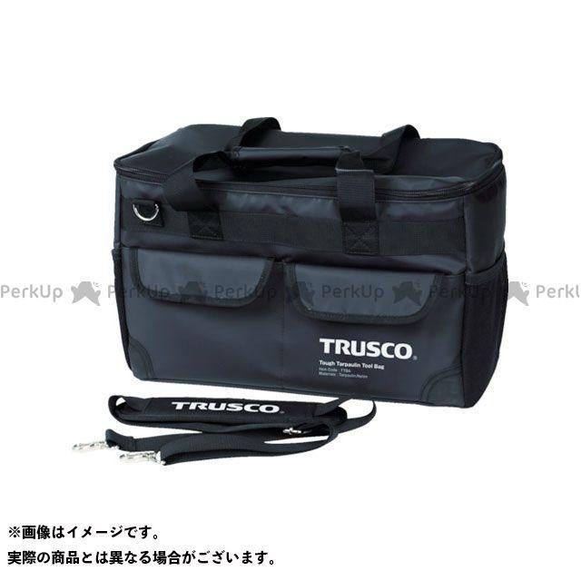 TRUSCO 作業場工具 TOUGH ターポリンツールバッグ 黒色 TRUSCO