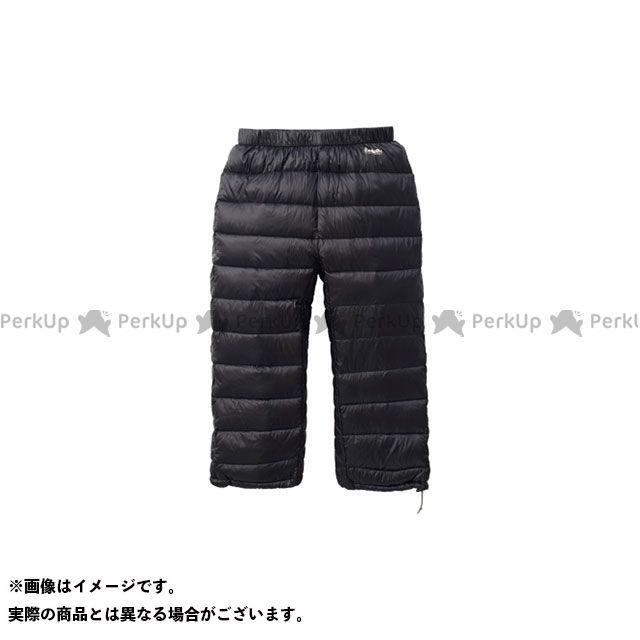 PUROMONTE アウトドア用ウェア ダウンパンツ7分丈(ブラック) サイズ:XL プロモンテ