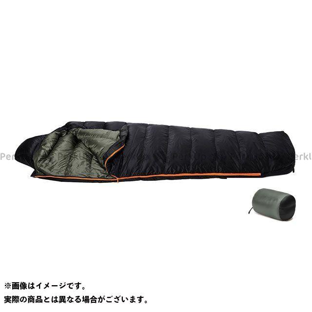 PUROMONTE シュラフ DUNLOPダウンシュラフ650g(ブラック/ダークグリーン) プロモンテ