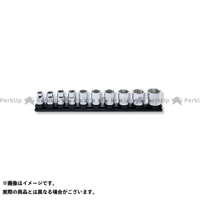 Ko-ken ハンドツール 1/2(12.7mm)SQ. Z-EAL 6角ソケット レールセット 10ヶ組 Ko-ken