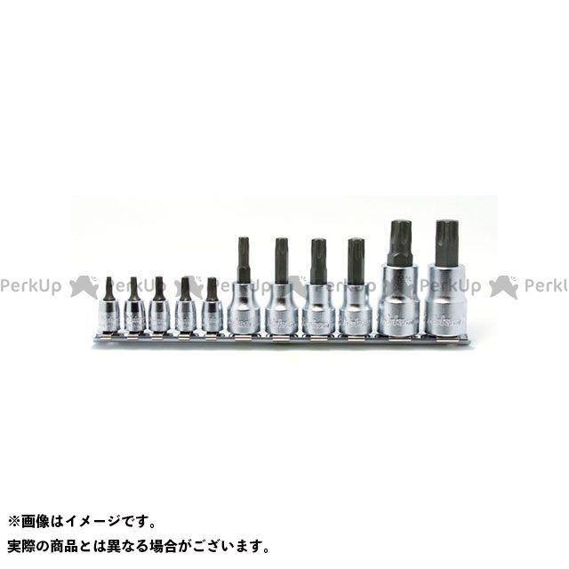 Ko-ken ハンドツール RSX025/11-IP 1/4&3/8&1/2SQ. トルクスプラスビットソケットレールセット 11ヶ組  Ko-ken