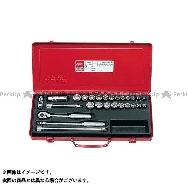 Ko-ken ハンドツール 3206AM 3/8(9.5mm)SQ. ソケットセット 27ヶ組  Ko-ken